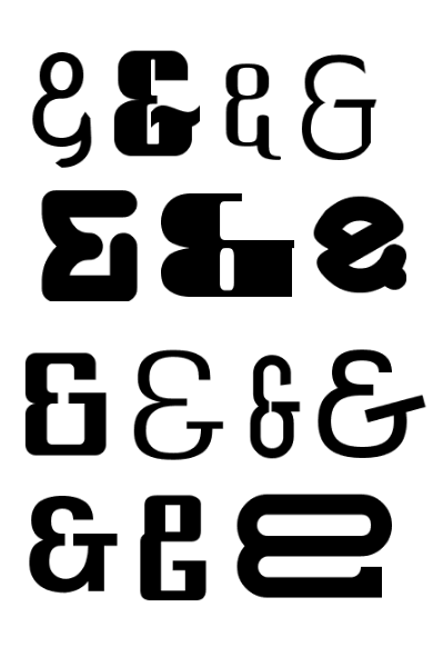 Ampersands PNG editado