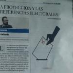 Tribuna en DM sobre proyección y preferencias electorales