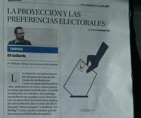 Articulo Eli Gallardo Diario Mallorca proyecciones electorales