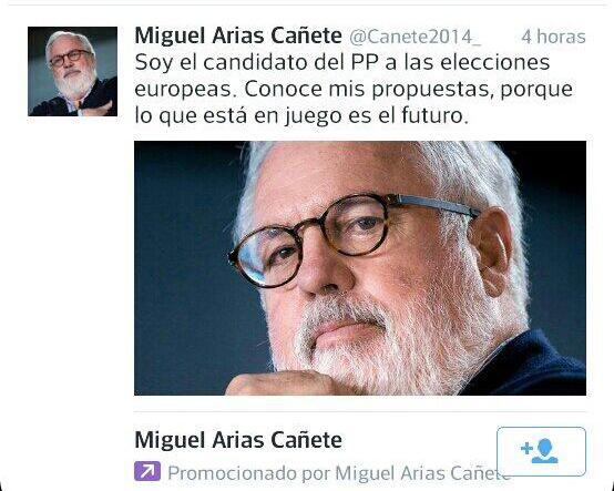 Cañete Twitter Ads europeas