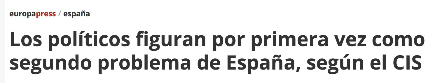 CIS politicos problema España
