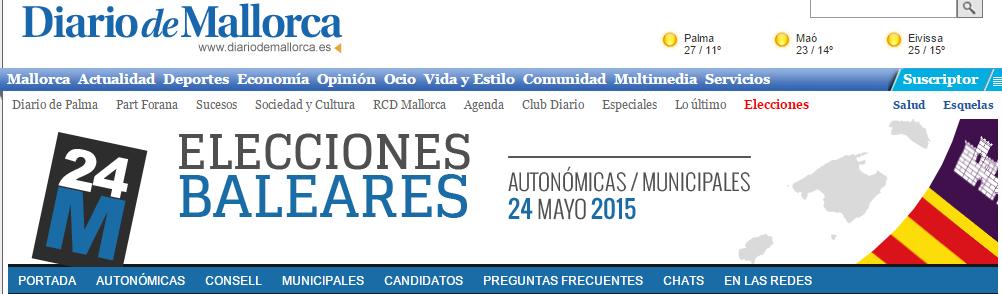 Diario Mallorca Elecciones mayo 2015