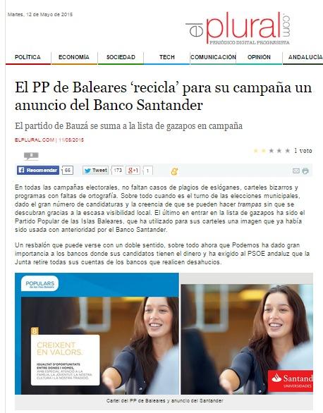 El plural bauza pp banco santander