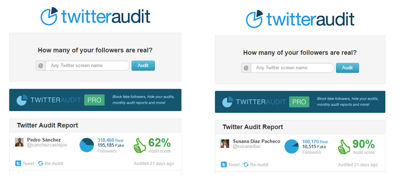 Fake followers Pedro Sanchez Susana Diaz PSOE