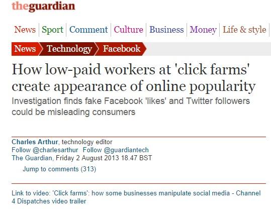 Guardian granjas likes facebook twitter