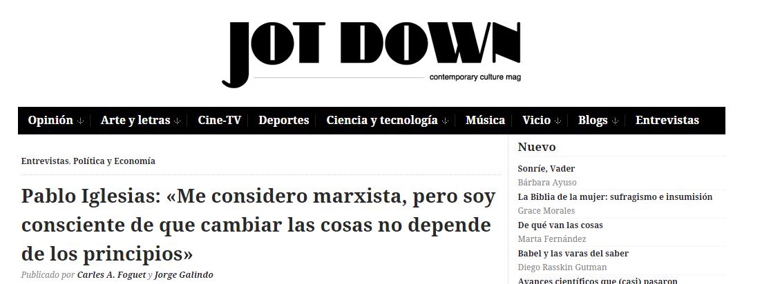 Jot Down Pablo Iglesias