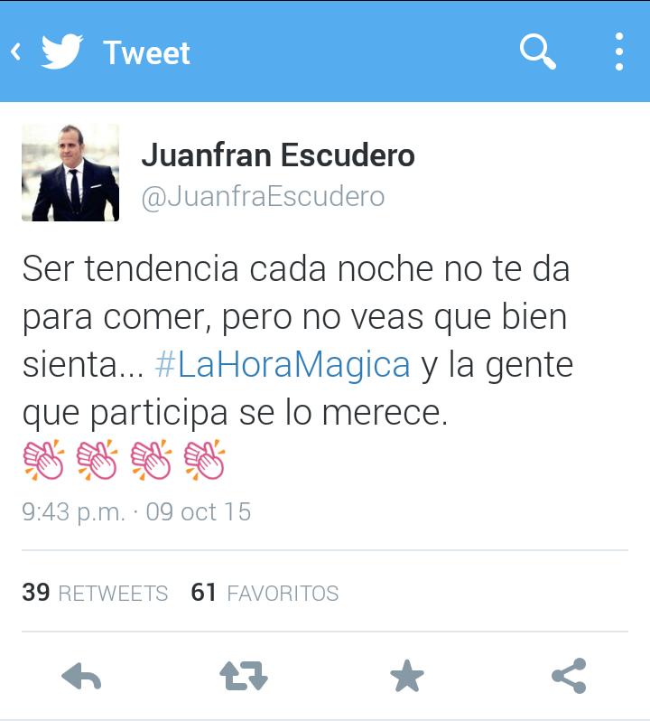 Juanfran Escudero - La hora mágica Twitter