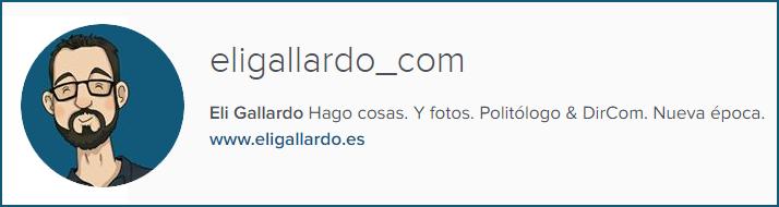 Perfil Eli Gallardo Instagram