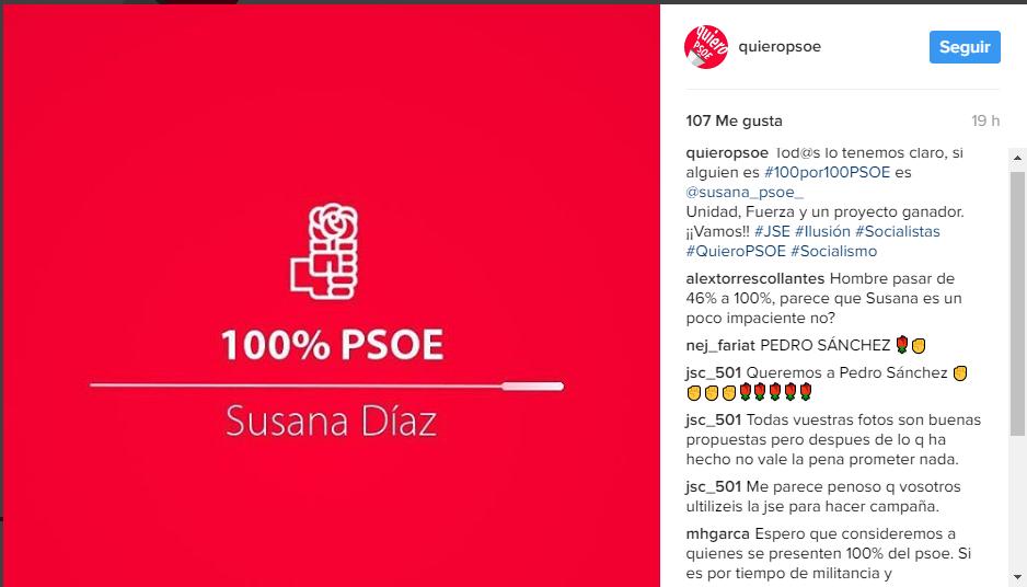 Quiero PSOE Instagram