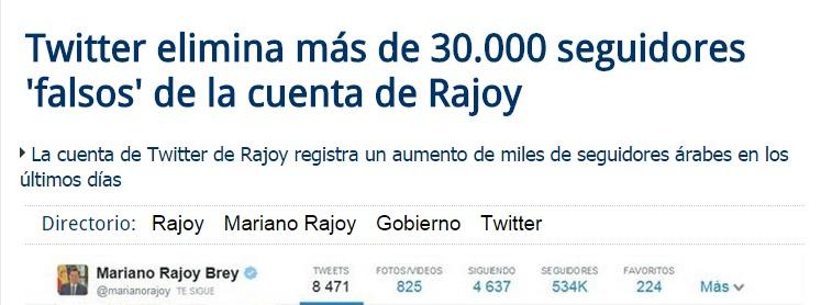 Rajoy perfiles falsos twitter