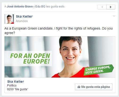 Ska Keller publicidad en Facebook