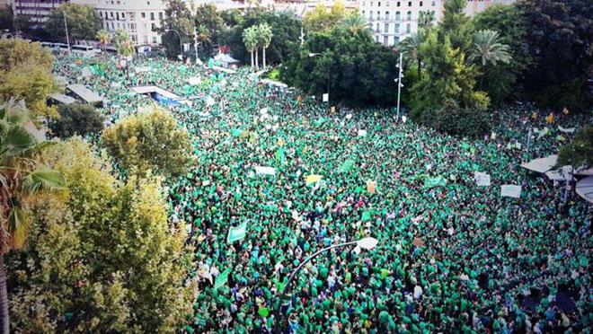 manifestacion til marea verde baleares