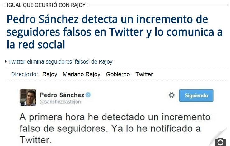 pedro sanchez seguidores falsos twitter