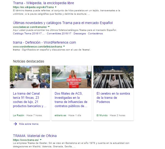 resultados trama google