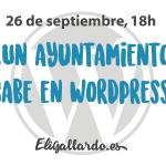 ¿Un ayuntamiento cabe en WordPress? Palma, 26 de septiembre