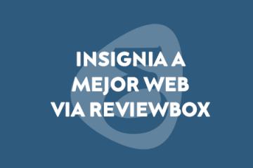 insignia de reviewbox a la web